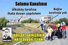 Tarsus Bağlar Sakinlerinin İhata Duvarı İsyanı!