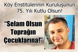 Tarsus ÇYDD'de; Ozan Varal'dan Köy Enstitüleri Açıklaması