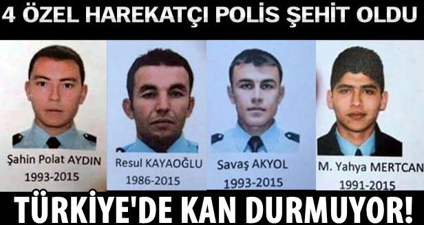 4 özel harekatçı polis şehit oldu