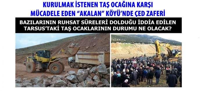 Tarsus'ta ruhsat süresi dolan taş ocaklarının durumu ne olacak?