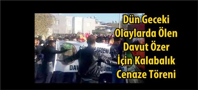 Davut Özer için Tarsus'ta cenaze töreni
