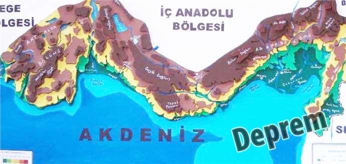 Akdeniz açıklarında yine sarsıntı