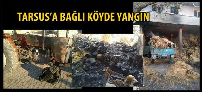 Tarsus'a Bağlı Köyde Yangın