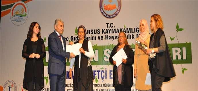 Tarsus'ta Tarımın Sultanları eğitim projesine katılanlar sertifikalarını aldı