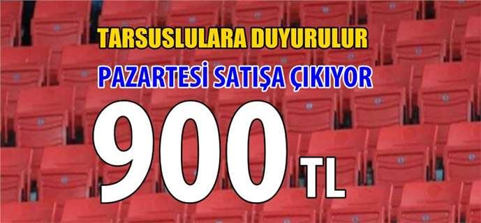 Tarsus'ta 900 TL'ye satışa çıkacak