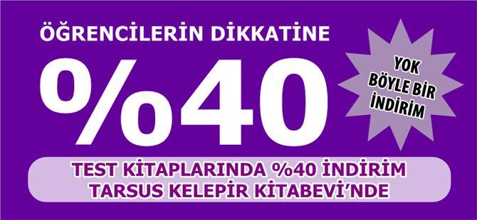 Tarsus Kelepir Kitabevi'nde %40 indirim fırsatı