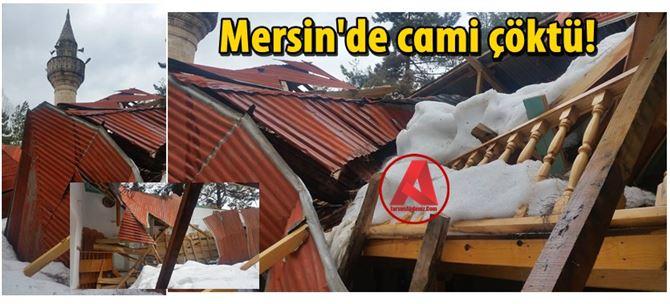 Mersin'de cami çöktü