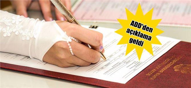Tarsus ADD'den, Müftülere Resmi Nikah Kıyma Hakkı Verilmesine Tepki