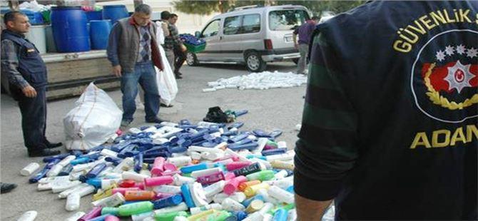 Adana'da çakma şampuan tesisine operasyon