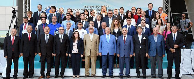 TSE'den Mersin Büyükşehir'e Çevre Yönetim Sistemi Belgesi