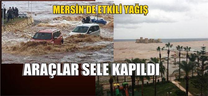 Mersin'de Araçlar Sele Kapıldı