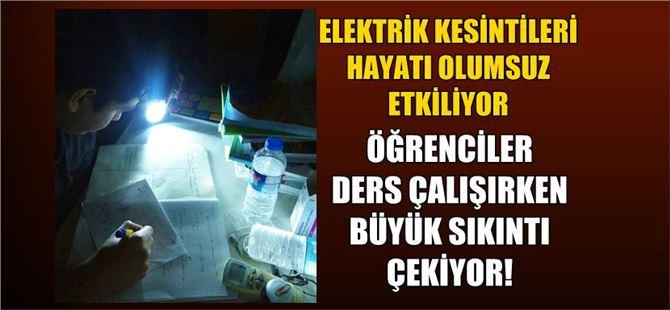 Elektrik kesintileri öğrencileri zor durumda bırakıyor