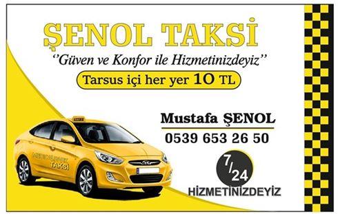 Tarsus Şenol Taksi 10 TL'ye Hizmetinizde