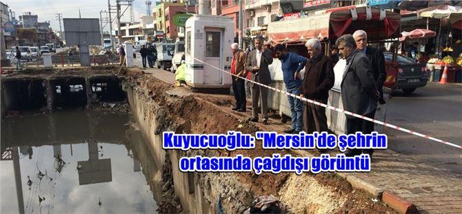 """Kuyucuoğlu, """"4 metrelik kanalın üzeri açık bırakıldı, etrafında önlem alınmadı"""""""
