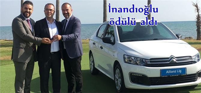 Allianz Lig'den Tarsus Lider Grup Sigorta sahibi Osman İnandıoğlu'na ödül