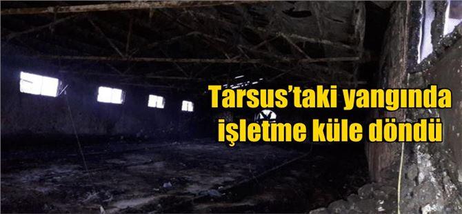 Tarsus'taki yangında işletme küle döndü