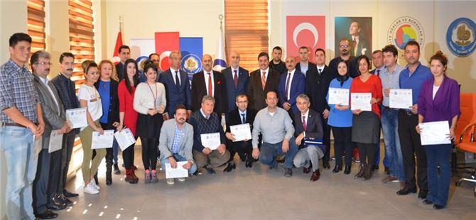 Tarsus TB'nda AB Projeleri Yazma Eğitimi Sertifikaları Dağıtıldı