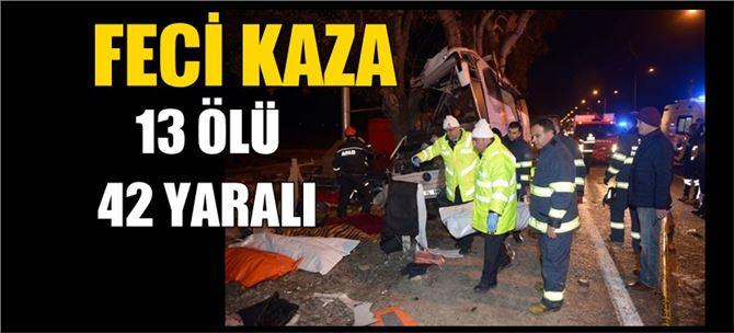 Eskişehir'de feci kaza : 13 ölü, 42 yaralı