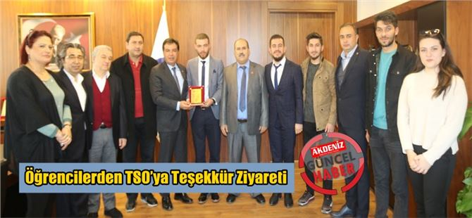 Öğrencilerden TSO'ya Teşekkür Ziyareti