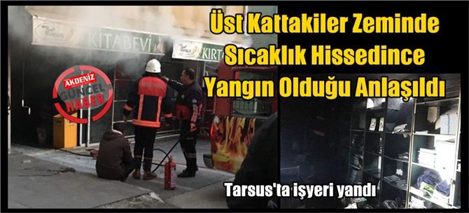 Tarsus'ta işyeri yandı