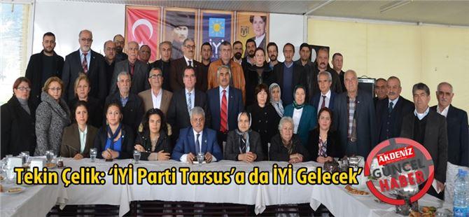 İyi Parti Tarsus İlçe Başkanı Tekin Çelik basın toplantısı düzenledi