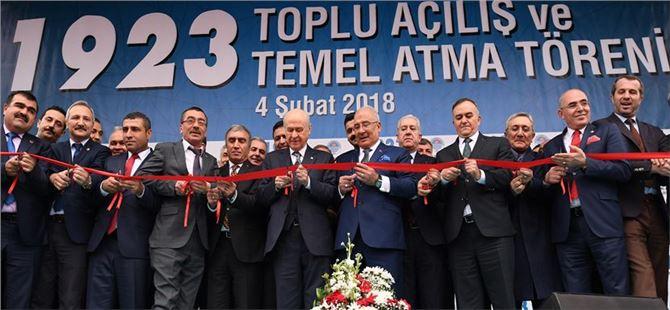 MHP Lideri Bahçeli Mersin'de toplu açılış törenine katıldı