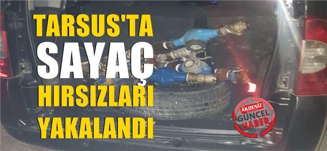 Tarsus'ta Arazilerde su sayaçlarını kırıp çalan 4 kişi tutuklandı