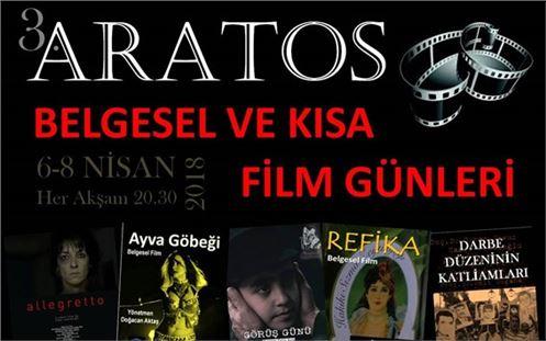 """""""3. Aratos Belgesel Ve Kısa Film Günleri"""" Tarsus'ta Başlıyor"""