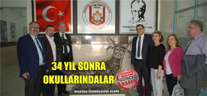 Danıştay Üyesi Mehmet Aydın ve 5 Arkadaşı 34 Yıl Sonra Eski Okulunda