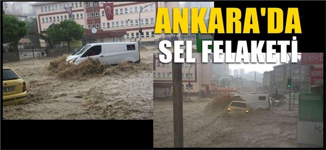 Başkent'te sel felaketi