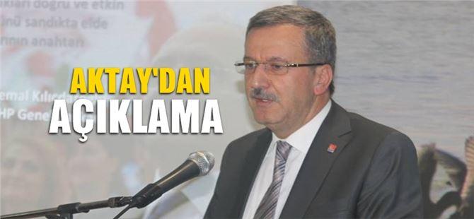 Mersin adayları konusunda CHP il başkanı Aktay'dan açıklama