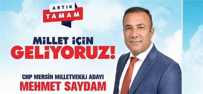 """Tarsuslulara seslenen CHP'li Saydam: """"Meclis'te sizlerin sesi olacağım"""""""