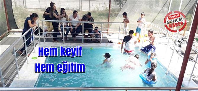 Tarsus Yinede Sevgi Özel Eğitim Merkezi öğrencilerine havuzda tedavi