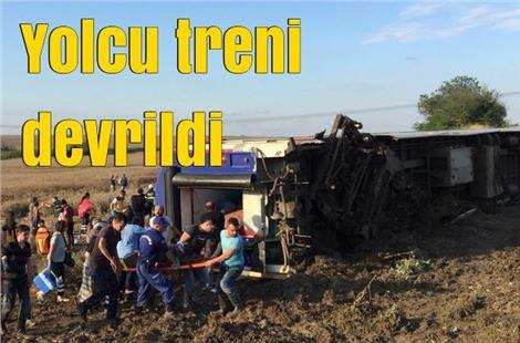 Tekirdağ'da yolcu treninin vagonları devrildi: 10 ölü, 73 yaralı