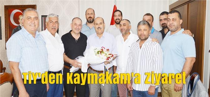 Tarsus İdmanyurdu Yönetimi Kaymakam Ünal'ı Ziyaret Etti