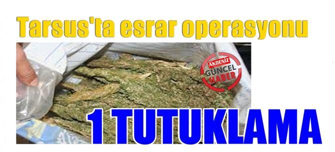 Tarsus'ta 40 kilo kubar esrar ele geçirildi
