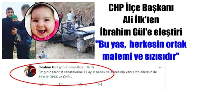 CHP İlçe Başkanı Ali İlk'ten Gül'e tepki