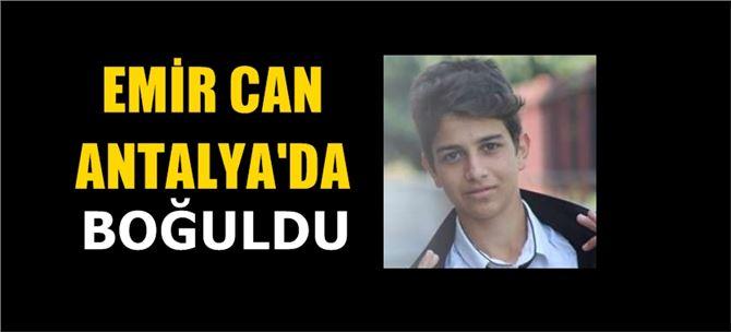 Tarsuslu stajyer öğrenci Emir, Antalya'da boğuldu