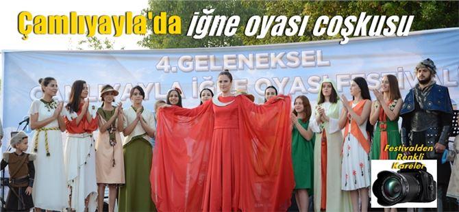 """Çamlıyayla'nın simgesi iğne oyası """"Festivalde"""" tanıtıldı"""