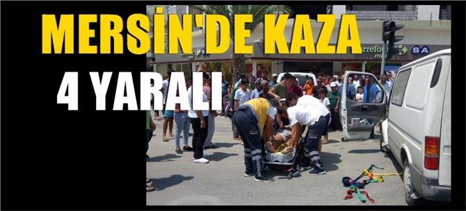 Mersin'de kaza: 4 yaralı
