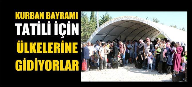 Kurban Bayramı için ülkesine giden Suriyelilerin sayısı 11 bini aştı