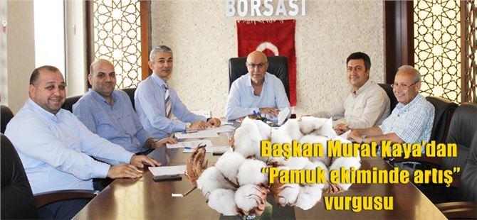 """Başkan Murat Kaya'dan """"Pamuk ekiminde artış"""" vurgusu"""