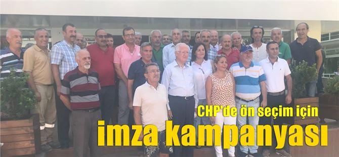 Mersin CHP'de ön seçim için imza kampanyası başlatıldı