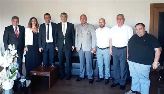 TASİAD  Başkan ve Yönetimi Rektör Orhan Aydın'ı Ziyaret Etti