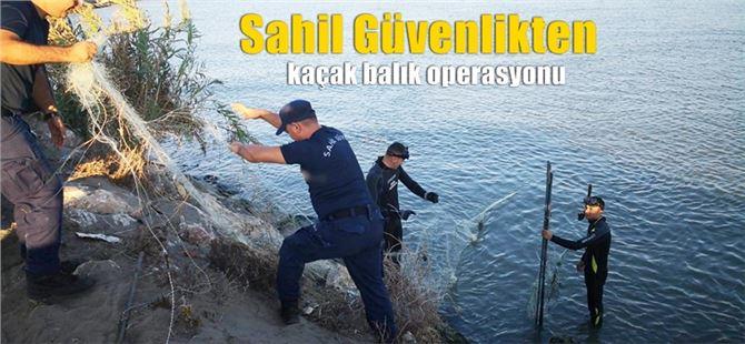 Tarsus'ta kaçak balık avcılarına operasyon