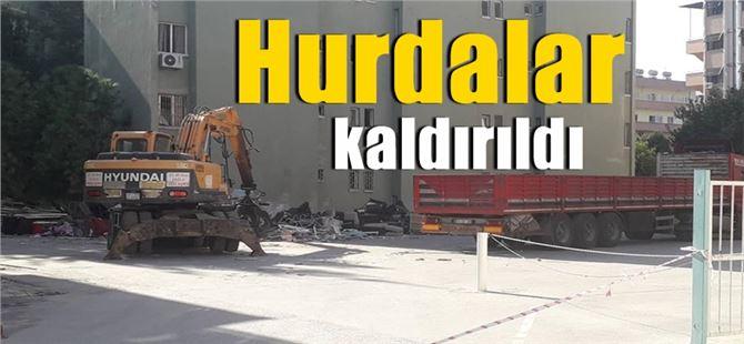 Tarsus Devlet Hastanesi bahçesindeki hurdalar kaldırıldı