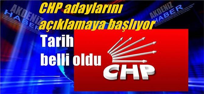 CHP adaylarını açıklamaya başlıyor