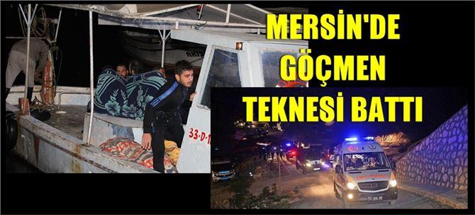 Mersin'de göçmen teknesi battı