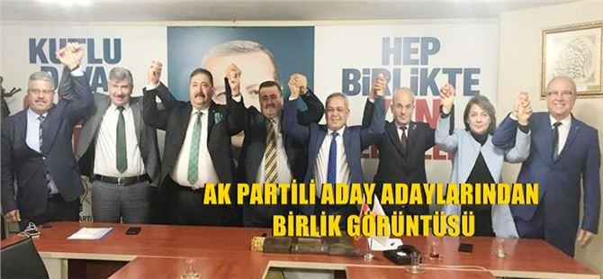 Ak Partili aday adaylarından birlik görüntüsü