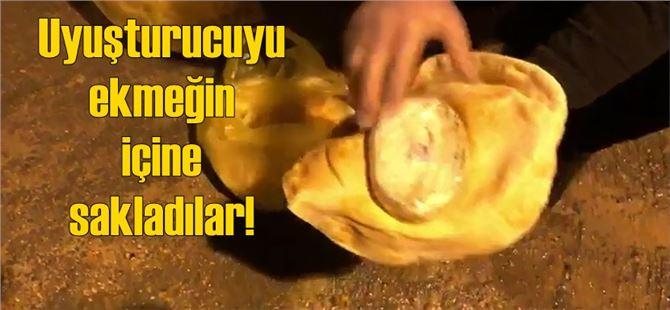 Mersin'de uyuşturucuyu ekmeğin içine sakladılar